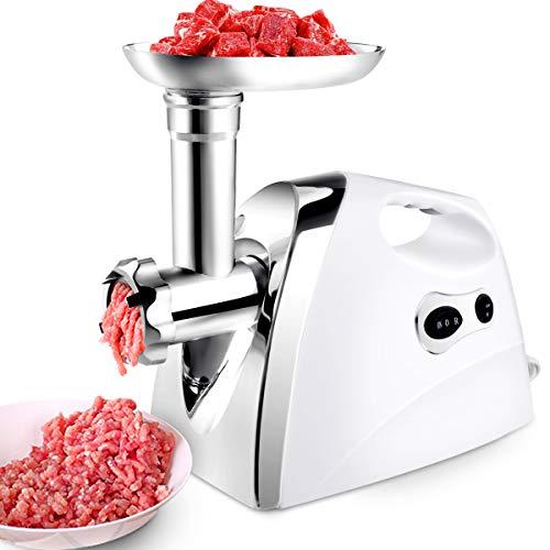 COSTWAY Elektrischer Fleischwolf Wurstmaschine Wurstfüller mit Wurstaufsatz / 1200W / Metallgetriebe / 3 Lochscheiben/Edelstahlklinge