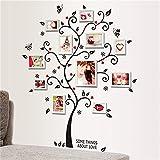 XZPQSSW DIY Family Photo Cadre Cadre Arbre Sticker Murale Décor Salon Salon Chambre à Coucher Décalcomanies Affiche Accueil Décoration Fond d'écran Tapisserie