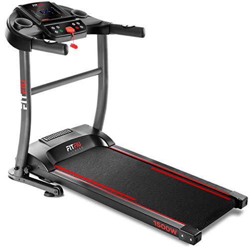 FITFIU Fitness MC-200 Tapis Roulant Pieghevole con Velocit Fino A 14Km/H, Superficie di Scorrimento 40X110Cm, Motore 1500W, Schermo Lcd, Cardiofrequenzimetro e Sistema di Arresto di Emergenza