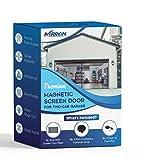 Premium Magnetic Garage Door Screen for 2 Car 16x7 FT - Strong & Heavy Duty Fiberglass Garage Screen Doors | Powerful Magnets | Hands Free Magnetic Screen Door | Lifestyle Design | by MarkIn