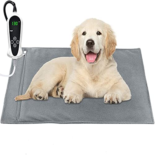 """RIOGOO Pet Heating Pad, Upgraded Electric Dog Cat Heating Pad Indoor Waterproof, Auto Power Off (Large: 22""""x 18"""")"""