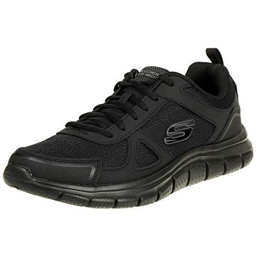 Skechers Track-scloric 52631-bbk, Zapatillas Hombre, Negro (Black 52631/Bbk), 45 EU