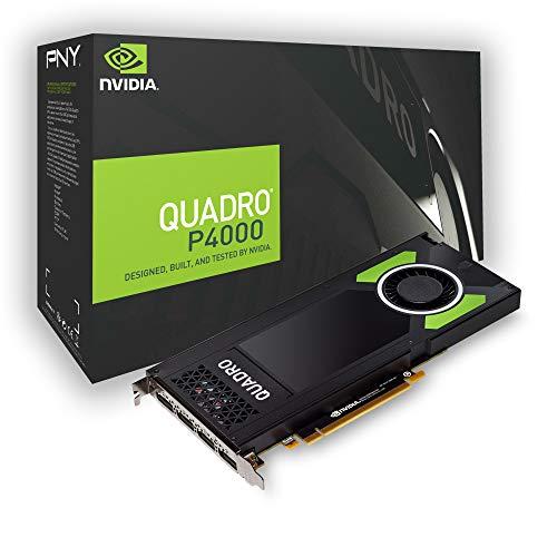 Pny Nvidia Quadro P4000 Scheda Grafica da 8 Gb, 1792 Cuda Core, Nero