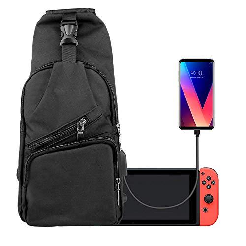 EEEKit Backpack Crossbody Reisetasche für die Nintendo Switch-Konsole Joy-Cons und Zubehör