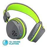 JLab Audio Neon Bluetooth Folding On-Ear Headphones | Wireless Headphones | 13 Hour Bluetooth Playtime | Noise Isolation | 40mm Neodymium Drivers | C3 Sound (Crystal Clear Clarity) | Graphite/Green