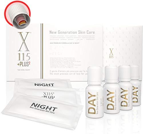 X115®+Plus   COLLAGENE + ACIDO IALURONICO   Antirughe   Pelle e Articolazioni   Collagene Marino Idrolizzato da Bere   Vitamina C, Resveratrolo, Coenzima Q10, Antiossidanti   Day & Night