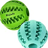 ☆ Valued and Best Pack of 2 dog toy balls: Green and Cyan with light mint scent. Help Clean Teeth and Prevent Plaque and Tartar Build Up. ☆ These tough durable dog balls are made of Non-Toxic natural rubber material : more durable, healthy and punctu...