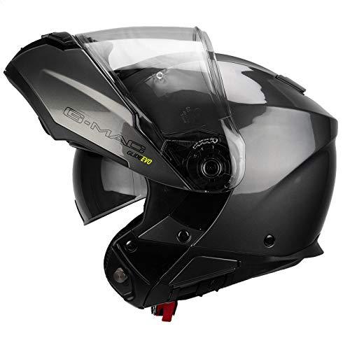 G-MAC Glide Evo Klapphelm Motorradhelm - Satin-schwarz