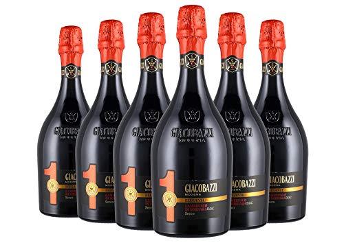 Lambrusco di Sorbara Secco DOC 1 Elegante box da 6 bottiglie Giacobazzi 0,75 L