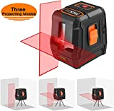 Laser Level self leveling Horizontal/Vertical Line and Cross-Line,50Ft with Stable Dual Modules, Pulse Mode, Magnetic Pivoting Base, Carrying Pouch, Battery Included - Tacklife SC-L07