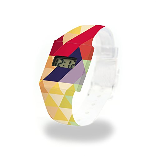 WOODY - Pappwatch - Paperlike Watch - Digitale Armbanduhr im trendigen Design - aus absolut reissfestem und wasserabweisenden Tyvek® - Made in Germany, absolut reißfest und wasserabweisend