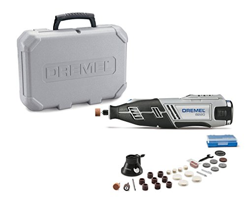 Dremel 8220-1/28 12-Volt Max Cordless Rotary Tool Kit- Engraver, Sander, and Polisher- Perfect for Cutting, Wood Carving, Engraving, Polishing, and Detail Sanding- 1 Attachment & 28 Accessories