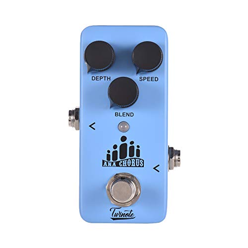 Muslady Mini Analog Chorus Guitar Effect Pedal Processsor Full Metal Shell with True Bypass