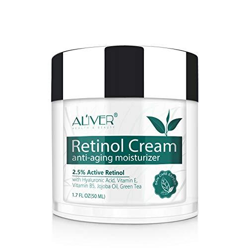 Crema hidratante milagrosa de retinol para la cara: con retinol, ¨¢cido hialur¨®nico,...