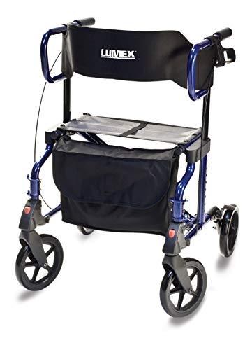 Graham-Field Lumex HybridLX Rollator & Transport Chair, Majestic Blue, LX1000B