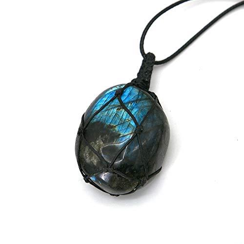 Healing Stones Necklace, tqyzkh Dragons Heart Labradorite...