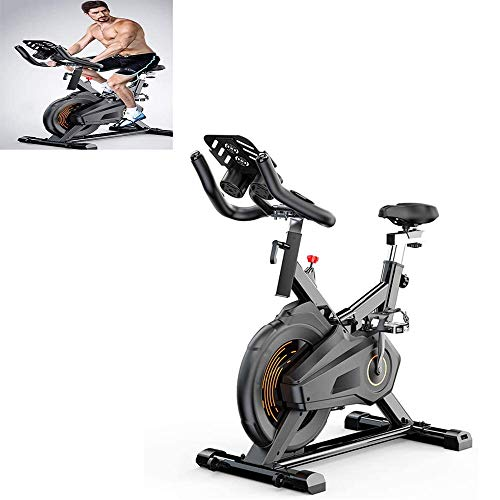YFFSS Exercise Bike, Indoor Smart Exercise Bike, Home Silent Stationary Bike, Safety Non-Slip Pedal, with Moving Roller and Level Adjuster, Suitable for Offices, Gyms 1