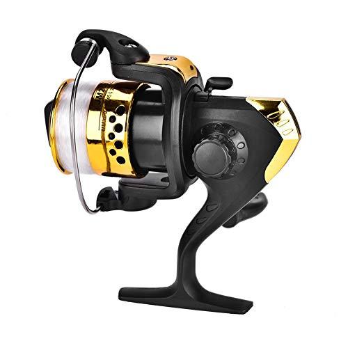 Mulinello da Pesca Tipo 200 Spinning Wheel 5.1: 1 Rapporto di Trasmissione Mulinello da Pesca a Tazza Leggero e Potente Adatto per Canne da Mare Corte e Pesca in Lago(Giallo)