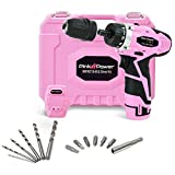 Pink Power PP121ID 12V Cordless Impact Drill Driver Tool Kit for Women- Tool Case, Lithium Ion Electric Drill, Bit Set, Battery and Charger