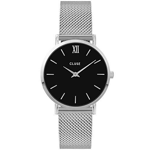 CLUSE Damen Analog Quarz Uhr mit Edelstahl Armband CW0101203005