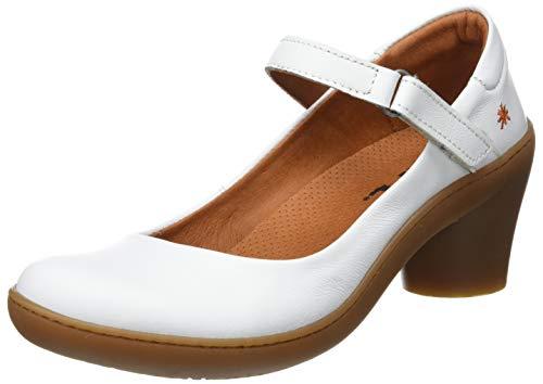 Art Alfama, Zapatos de tacón con Punta Cerrada Mujer, Blanco (White), 39 EU