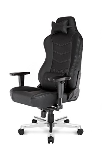 Akracing Onyx Fauteuil Gaming, Faux Cuir, Noir, 53 x 55 x 130 cm