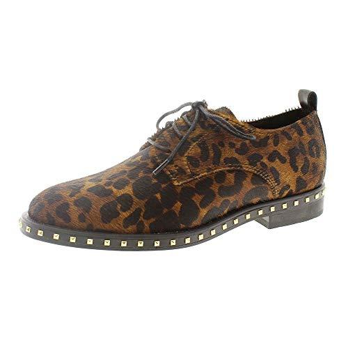 Zapatos Mujer Blucher Cordon Oxford Alpe 3648 Leopardo 36
