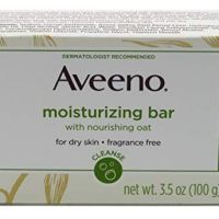 Aveeno Gentle Moisturizing Bar Facial Cleanser with Nourishing Oat for Dry Skin, Fragrance-free,...