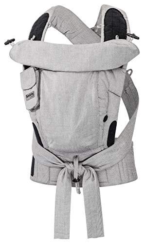 Hoppediz Bondolino Plus - Marsupio porta-bebè da addominale e schiena, con istruzioni