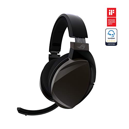 ASUS ROG STRIX FUSION WIRELESS Gaming Headset for PC and PlayStation 4 (PS4) with Dual Channel 2.4GHz Wireless Mini Dongle, Digital Microphone with Auto Mute, and Touch CONTROLS,Black