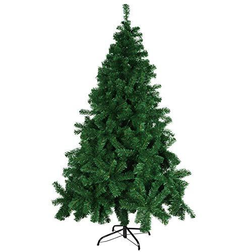 Minterest Arbol de Navidad, 800 Sucursales Árbol de Navidad Grande con Soporte de Metal para La Sala de Estar de La Oficina En Casa Decoraciones para Fiestas Navideñas(180cm)