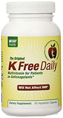 Safe to take with their anticoagulation medications. Developed by a Pharmacist and a Registered Dietitian Two Months Supply. No Vitamin K Made with High Quality Vegetable Capsules