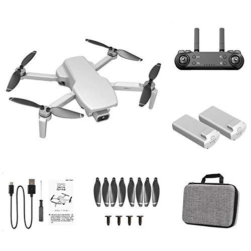 Ptmd - L108 GPS Drone con Doppia Telecamera per Adulti, Droni Quadricotteri RC Pieghevoli Professionale con Motore Brushless WiFi
