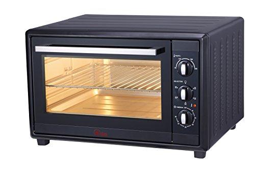 Ardes AR6260B Forno Elettrico Ventilato GUSTAVO 60 Litri Con Luce Interna 6 Funzioni Cottura Doppio Vetro con Accessori Nero, 2200 W