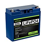 ExpertPower 12V 20Ah Lithium LiFePO4 Deep Cycle Rechargeable Battery | 2500-7000 Life Cycles & 10-Year lifetime | Built-in BMS | Perfect for RV, Solar, Marine, Overland, Off-Grid Applications