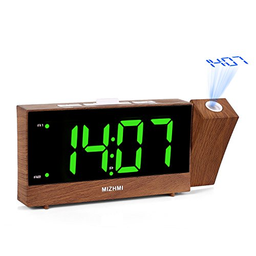 MIZHMI Projection Alarm Clock, Dual...