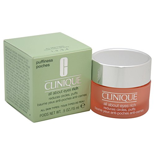 Clinique All About Eyes Rich femme/woman, Reduces Circles, Puffs, 1er Pack (1 x 15 ml)