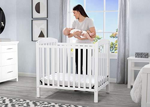 Product Image 10: Delta Children Emery Mini Convertible Baby Crib with 2.75-inch Mattress, Bianca White