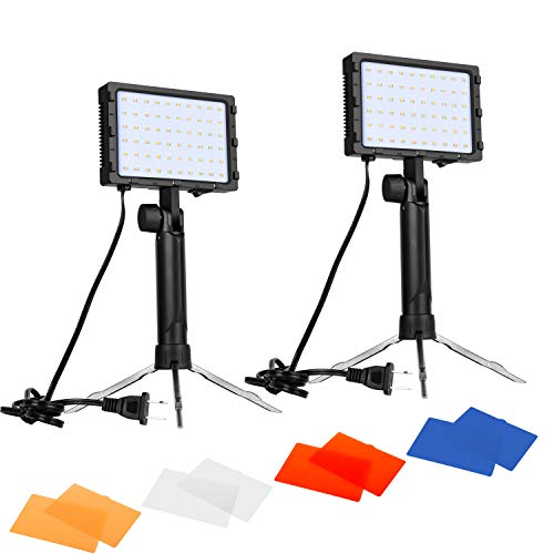 Emart 60 LED Continuous Portable Photography Lighting Kit for Table Top Photo Video Studio...