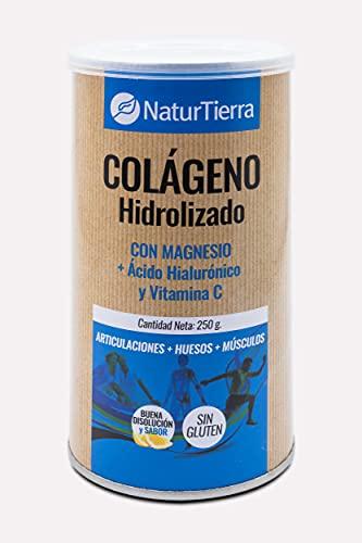Naturtierra Naturtierra Colágeno Hidrolizado Con Magnesio + Ácido Hialurónico Y Vitamina C 250G