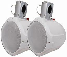 "MCM Custom Audio 60-10020 6 1/2"" Marine Wakeboard Two-Way Speaker Pair – White"