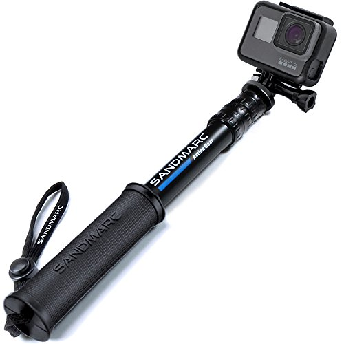 SANDMARC Pole - Compact Edition: Impermeabile Palo (Selfie Stick) per GoPro Hero 8, Max, 7, Osmo Action, Hero 6, Hero 5, 4, Session, 3, 2, e HD - Alluminio Telescopico