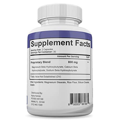 Keto Fast - Advanced Ketogenic Weight Loss Formula - 700MG - Burn Fat - BHB Ketones - Increase Energy - 60 Capsules - 3 Month Supply 6