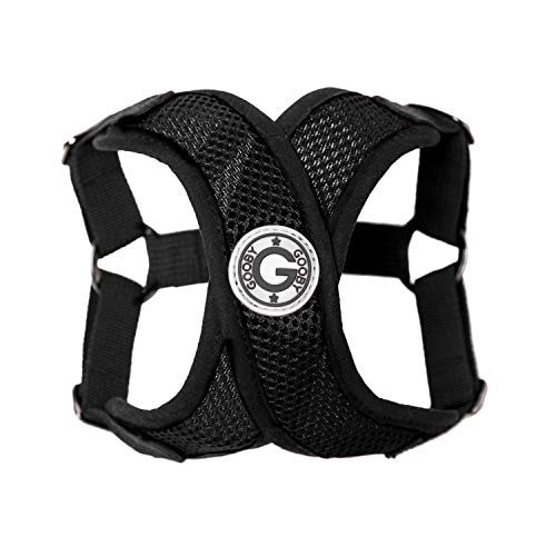 Gooby - Comfort X Step-in Harness, Small Dog Harness with Patented Choke Free X Frame, Black, Large
