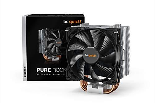 be quiet! – Refroidisseur de processeur Pure Rock TDP 150W en aluminium brossé, technologie HDT