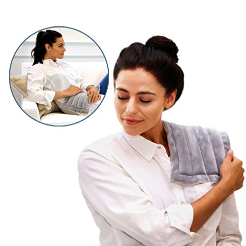 Heating Pad Solutions Microwavable Buddy - Portable Heating Pad for Cramps, Arthritis, Joints Pain, Soring Muscles & Aching Feet | Versatile Reusable Microwavable Hot Pack for Natural Pain Relief