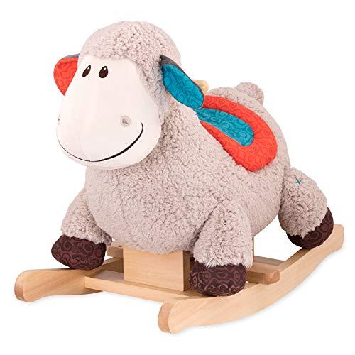 B. toys by Battat – Schaukelpferd Rodeo Rocker Schaf – BPA-freies Schaf Plüsch und Holz zum Aufsitzen für Kinder und Babys ab 18 Monaten