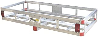 "MaxxHaul 70108 49"" x 22.5"" Hitch Mount Aluminum Cargo Carrier With High Side.."
