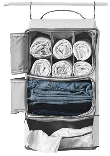 Hanging Portable Luggage Suitcase Closet Shelving Organizer w/...