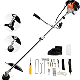 42.7cc Weed Eater Gas Powered 2-in-1 Cordless Grass Trimmer/Edger, 2-Cycle Gas String Trimmer with 2 Detachable Head for Trimming Grass/Weed....
